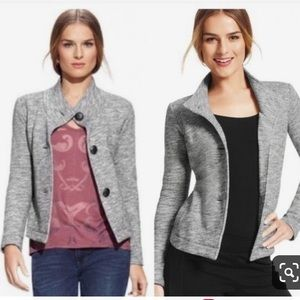CAbi Gray Fleece Jacket Sweater